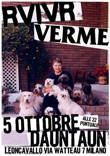 Rvivr + Verme concerto 5 ottobre Dauntaun Milano